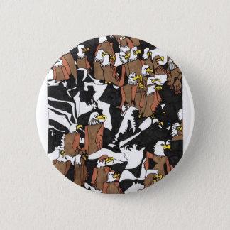 Eagle landing 6 cm round badge