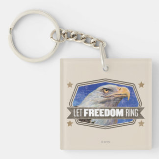 Eagle-Let Freedom Ring Key Ring