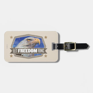 Eagle-Let Freedom Ring Luggage Tag