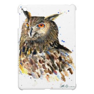 Eagle Owl Watercolor Mini Ipad Case