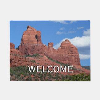 Eagle Rock I Sedona Arizona Travel Photography Doormat