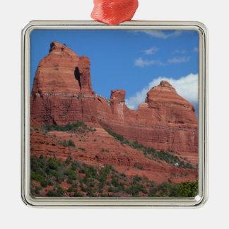 Eagle Rock I Sedona Arizona Travel Photography Silver-Colored Square Decoration
