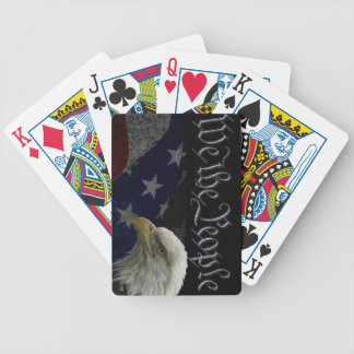 Eagle & USA Flag Bicycle Playing Cards