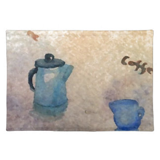 Early American Morning Coffee Home Comforts Placemat