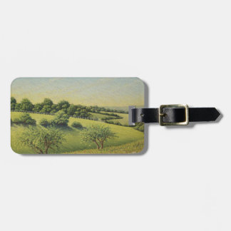 Early Evening Sun, Epsom Downs, Surrey Pastel Bag Tag