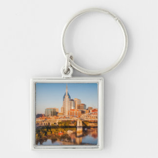 Early Morning Over Nashville, Tennessee, USA Key Ring