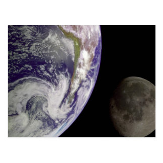 Earth and Moon Postcard