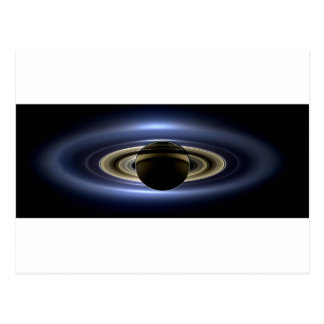 Earth and Saturn Postcard