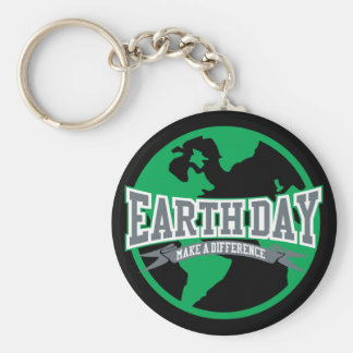 Earth Day Difference Key Ring