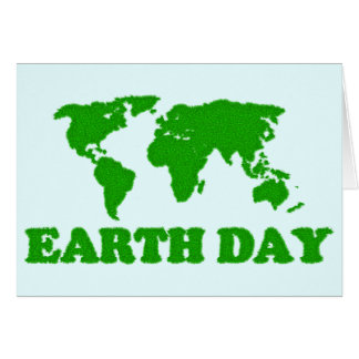 Earth Day Grass Map Card