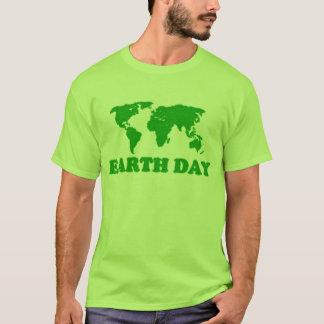 Earth Day Grass Map Green T-Shirt