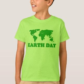 Earth Day Grass Map Kids T-Shirt