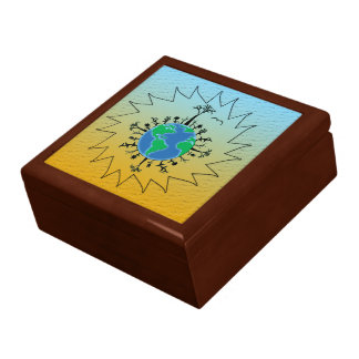 Earth Day Large Square Gift Box