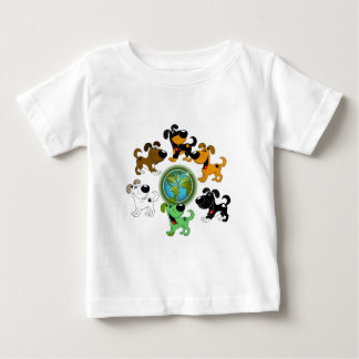 Earth Day! - Leaf and Five Pups Baby T-Shirt