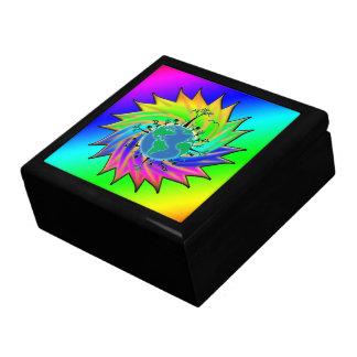 Earth Day ~ Sunburst Large Square Gift Box