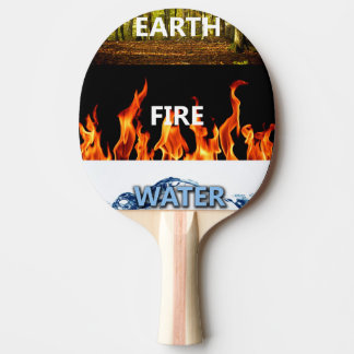 Earth,Fire and Water Ping Pong Paddle