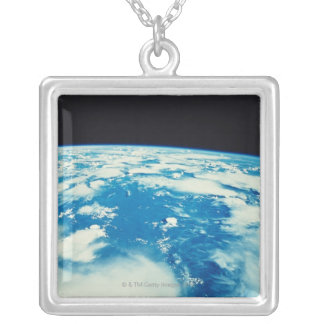 Earth from Space 12 Silver Plated Necklace