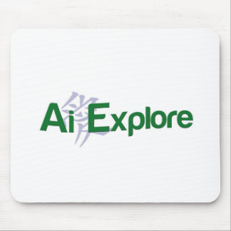 Earth Half Full and Ai Explore Mouse Pad
