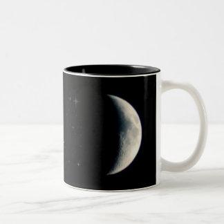 Earth Moon and Stars Two-Tone Mug