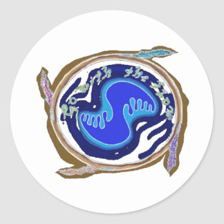 earth spirit normal classic round sticker