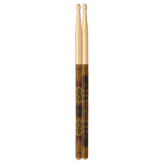 Earth Tone Flower Texture Drumsticks