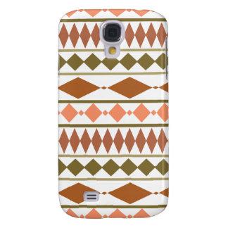 Earth Tones Tribal Geometric Pattern Galaxy S4 Case