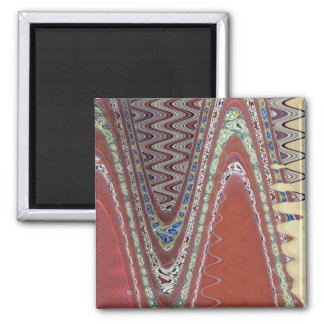 Earthly Abstract Square Magnet