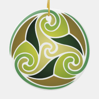 Earthly emblem christmas ornament
