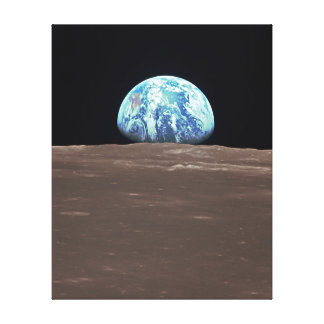 Earthrise from the Moon Gallery Wrapped Canvas