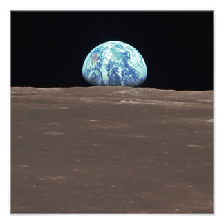 Earthrise from the Moon Photo Print