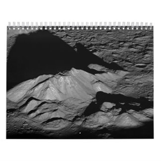 Earth's Moon Tycho Crater Central Peak Wall Calendars