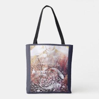 Earthtone Koi Tote Bag