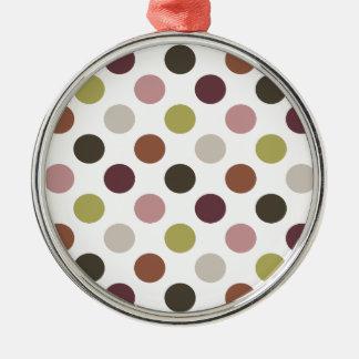 Earthtones Polka Dots Christmas Ornament