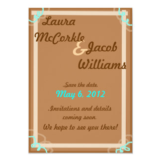 "Earthy Save the Date 5"" X 7"" Invitation Card"