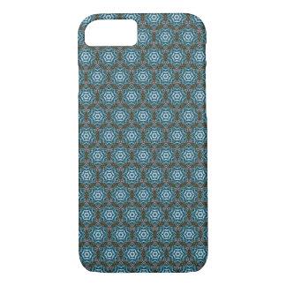 Earthy Teal Hexagon Batik Pattern iPhone 7 case