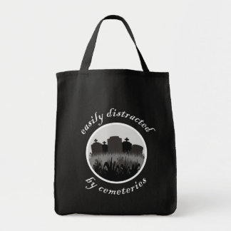 Easily Distracted By Cemeteries Tote Bag