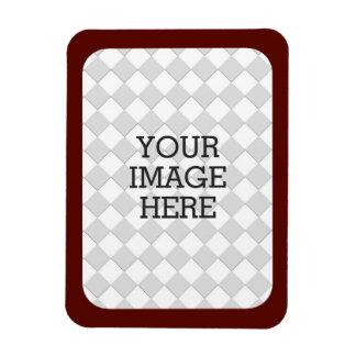 Easily Make Your Own Photo Display Burgundy Frame Magnet