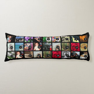Easily Make Your Own Photo Display with 27 images Body Cushion