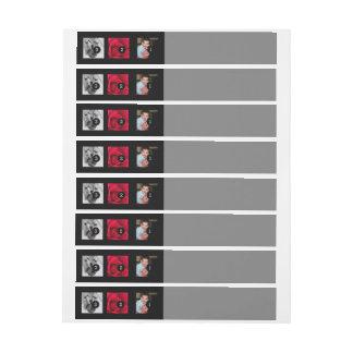 Easily Make Your Own Photo Display with 3 photos Wraparound Address Label