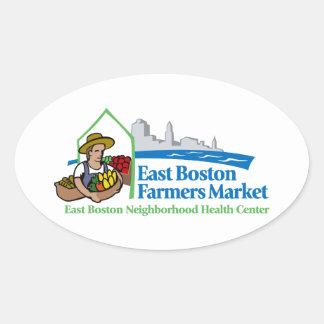 East Boston Farmers Market Oval Sticker