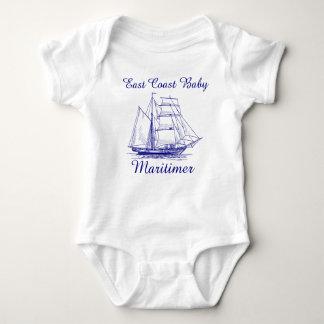 East Coast Baby Maritimer sailing ship one piece Baby Bodysuit