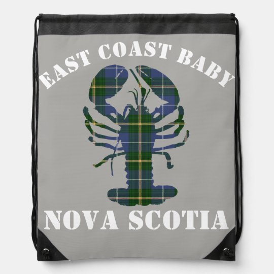 East Coast Baby Nova Scotia Lobster Tartan grey Rucksacks