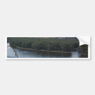 East Dubuque on the Mississippi River Bumper Sticker