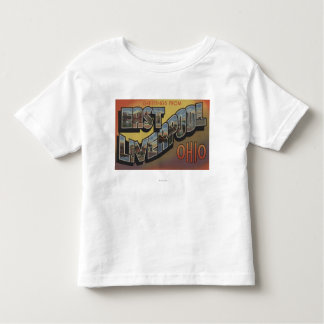East Liverpool, Ohio - Large Letter Scenes Toddler T-Shirt