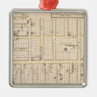 East Providence Rhode Island Map Silver-Colored Square Decoration