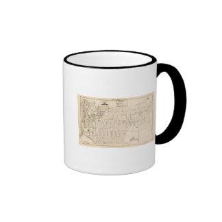 East Providence Rhode Island Map Coffee Mugs