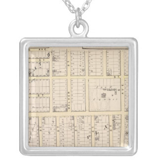 East Providence Rhode Island Map Square Pendant Necklace