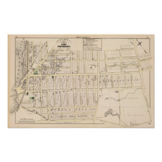 East Providence Rhode Island Map Poster