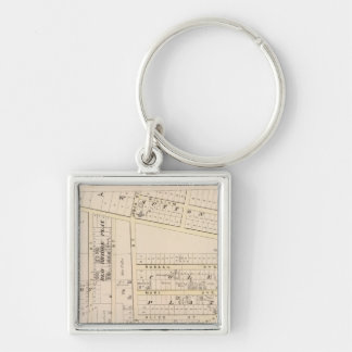 East Providence Rhode Island Silver-Colored Square Key Ring