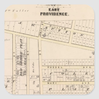 East Providence Rhode Island Square Sticker